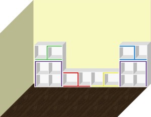Мебель трансформер. Стеллаж.