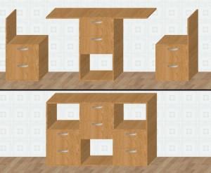 Мебель-трансформер. Тумба 3 в 1